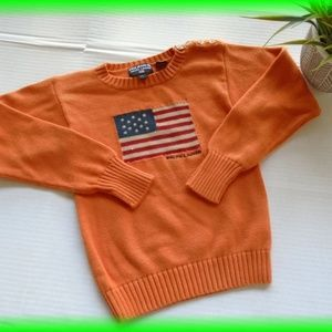 Polo Ralph Lauren American Flag Sweater Size 6